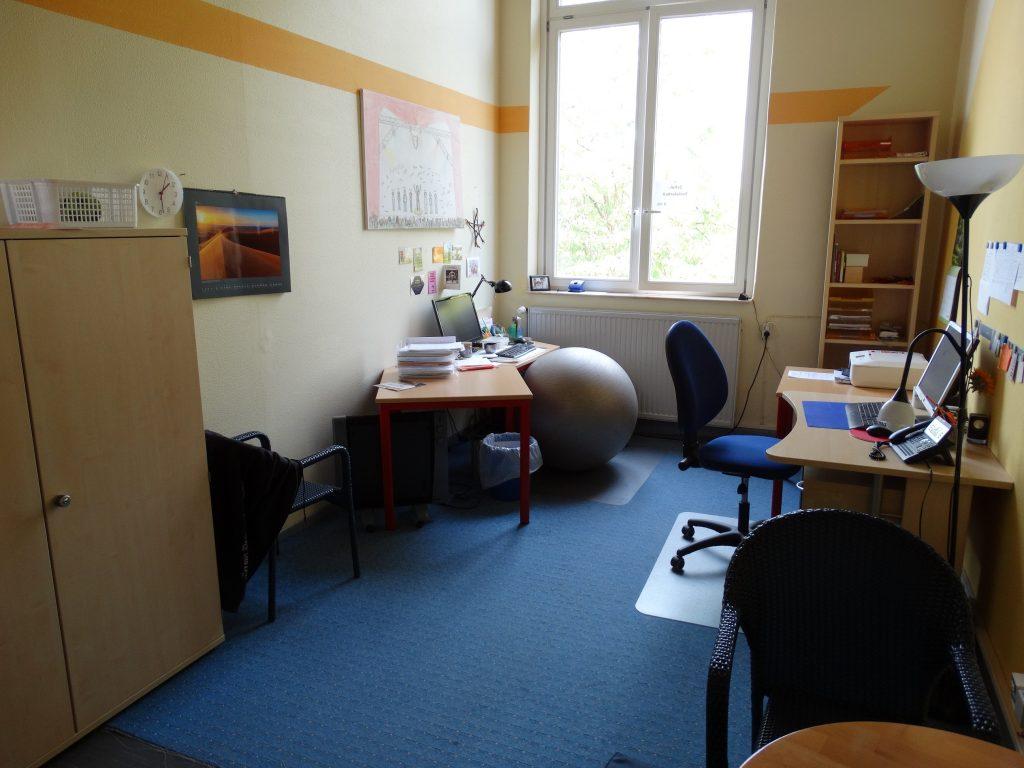 Büro der Schulsozialarbeit in der Hauptschule Innenstadt