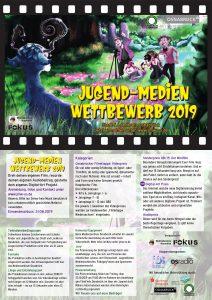 Der Flyer des Jugend-Medien-Wettbewerbs Osnabrück 2019